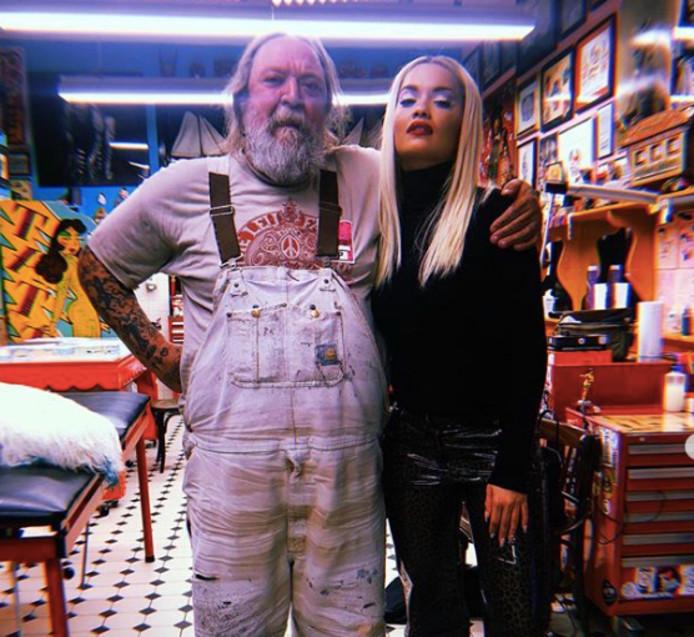 Rita Ora en Henk Schiffmacher