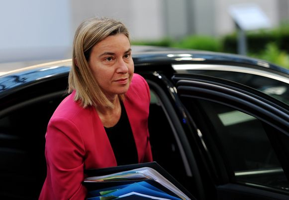 Federica Mogherini, Hoge Vertegenwoordiger voor Buitenlandse Zaken en het Veiligheidsbeleid van de Europese Unie.