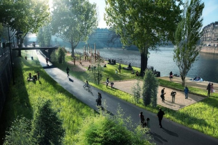 Metamorfose van de Seine. Beeld Luxigon via The Guardian