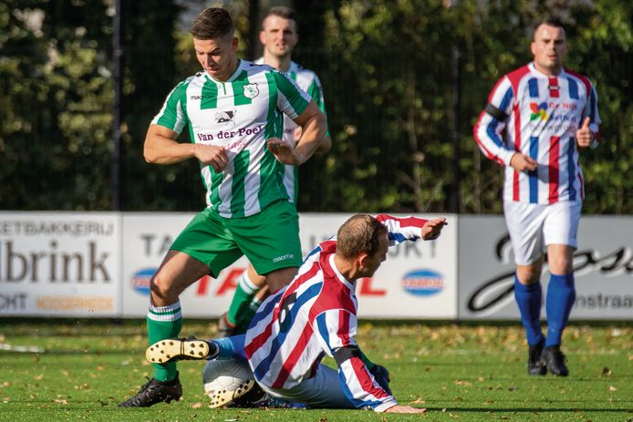 ODIO (groen-wit) kende moeite met het veld in Zegge. (archieffoto)