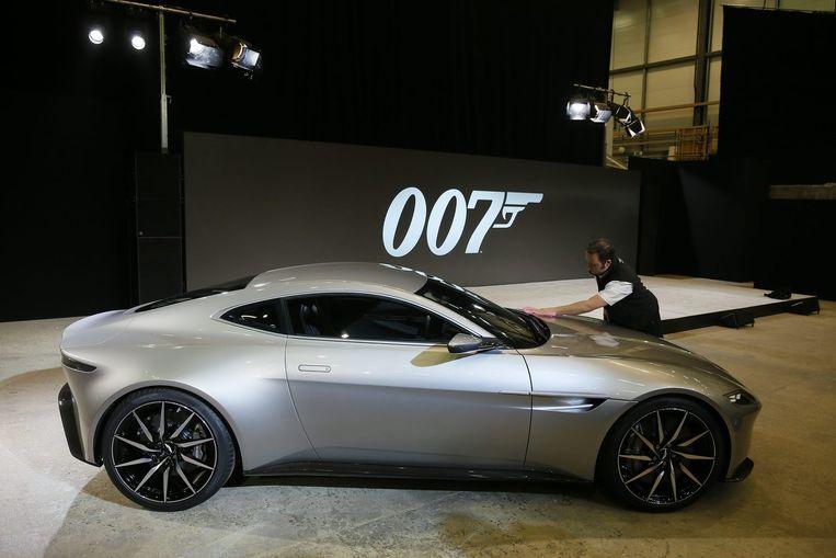 De Aston Martin DB10, speciaal gemaakt voor Spectre. Beeld reuters