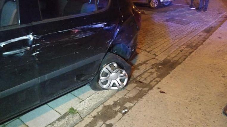 De schade aan de wagens was aanzienlijk.