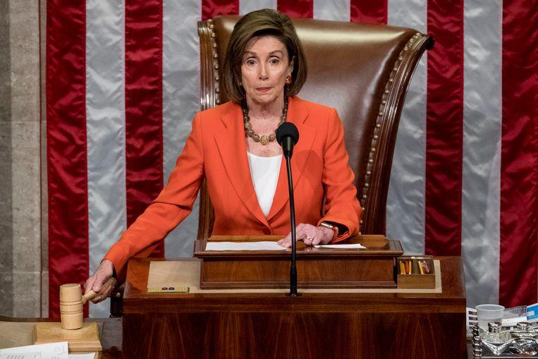 Voorzitter van het Huis van Afgevaardigden Nancy Pelosi.