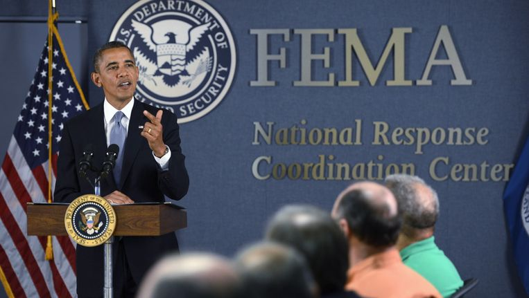Barack Obama spreekt maandag over de 'govenment shutdown'. Beeld getty