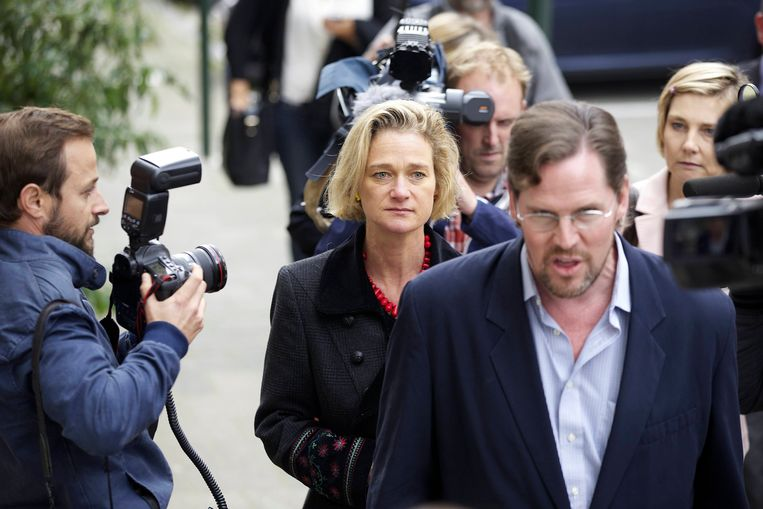 Delphine tijdens de zaak in 2014.