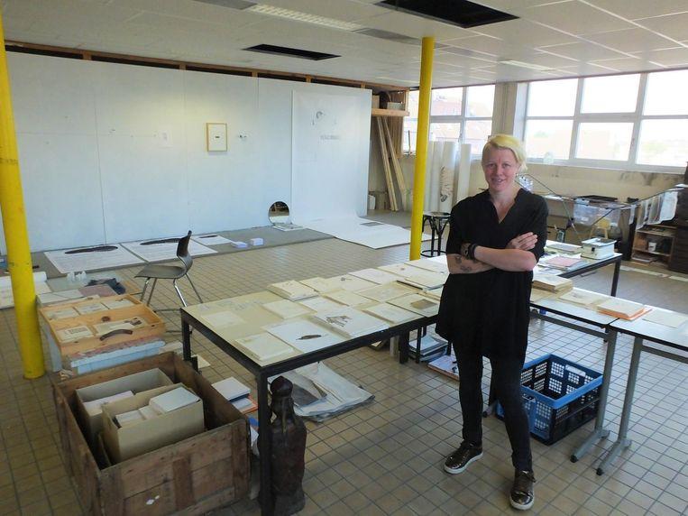 Katelijne De Corte in haar atelier.