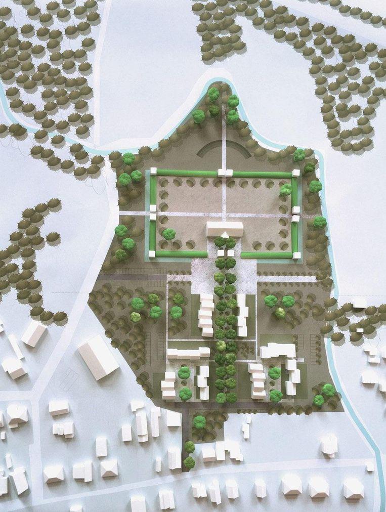 Op de voormalige camping Barebeek komen appartementen, woningen, een centraal plein en een Romeinse site met omwalling.