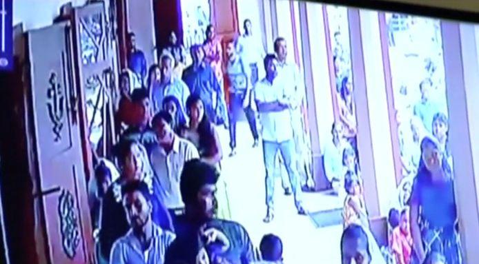 Camerabeelden van een van de terroristen in Sri Lanka