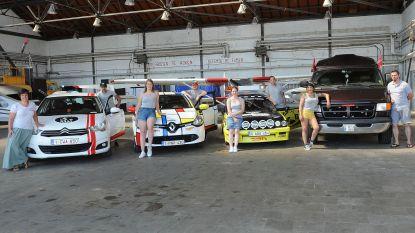 Team Show 'n go is klaar om zich te tonentijdens de Budapest Rally