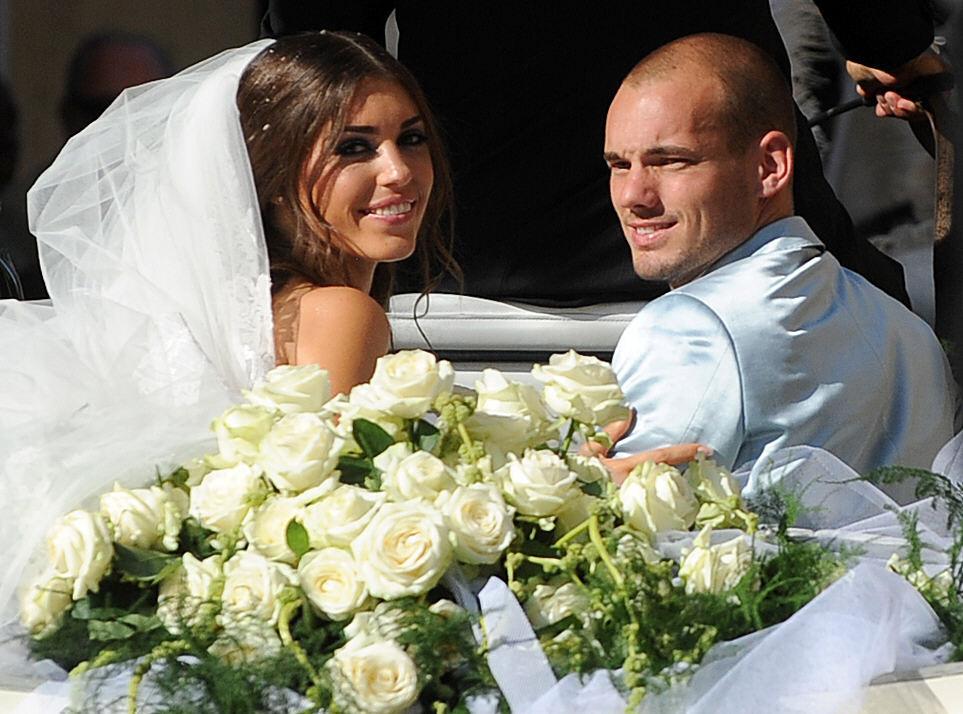 Wes en Yo op hun bruiloft