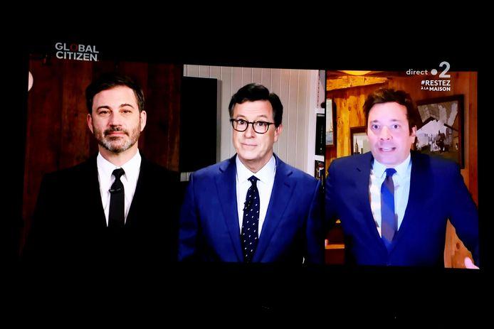 Jimmy Kimmel, Stephen Colbert et Jimmy Fallon