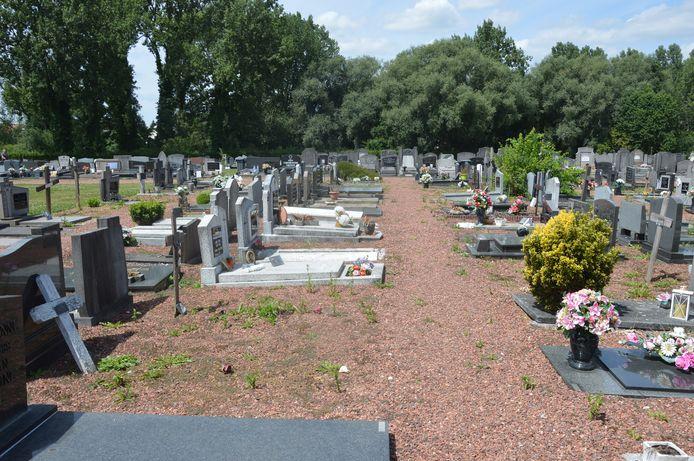 Archiefbeeld begraafplaats Denderleeuw.