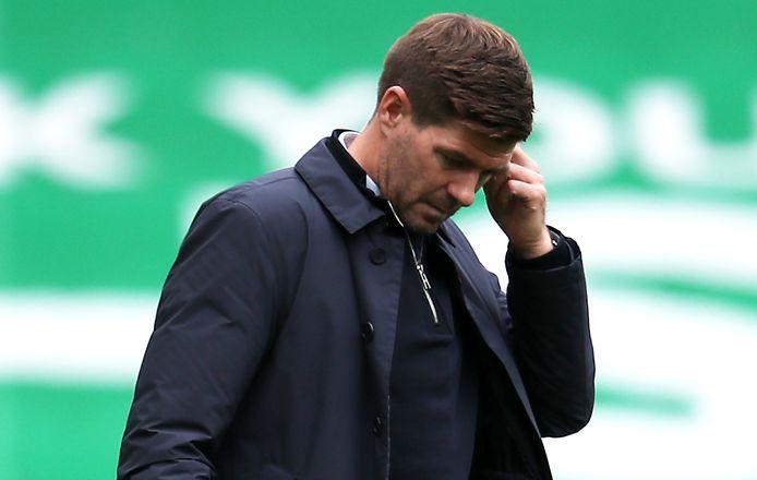 Steven Gerrard na het gelijke spel van Rangers FC afgelopen zondag tegen Hibernian.