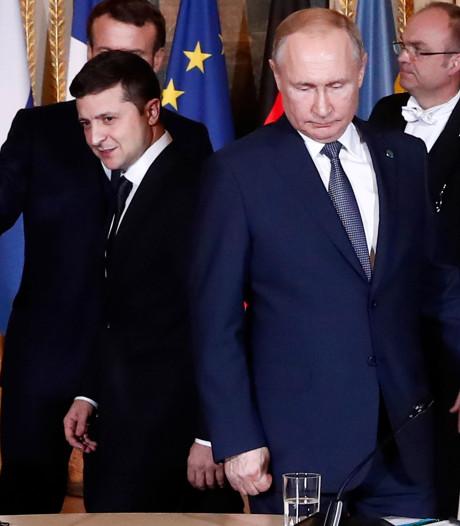 Zelenski en Poetin eens over strenger toezicht op wapenstilstand
