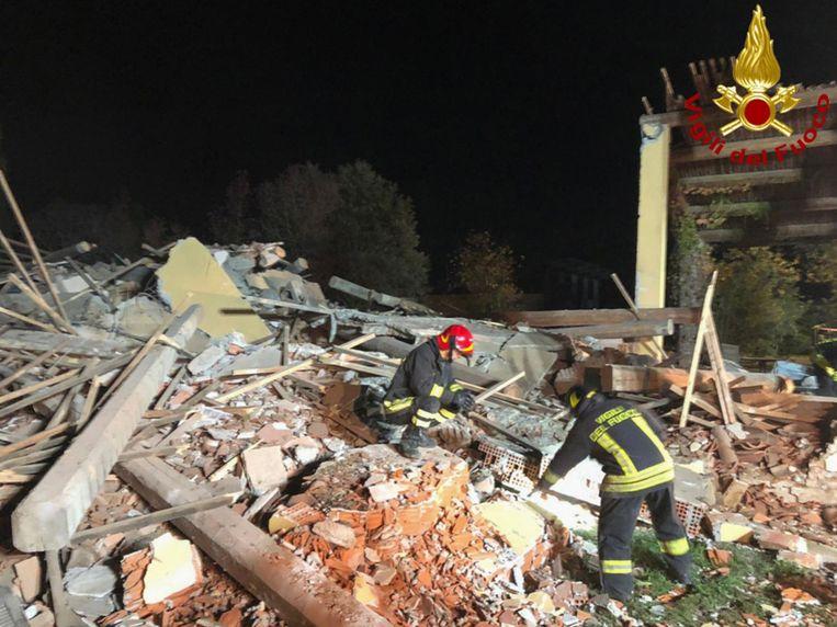 De omgekomen brandweerlieden in Quargnento waren 32, 38 en 46 jaar oud.