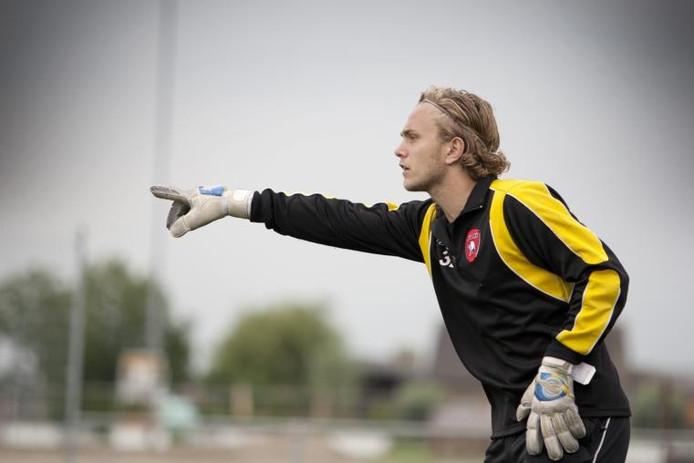 Keeper Jeffrey Hoogenbosch had geen antwoord op de winnende treffer van Luuk van der Harst. Archieffoto: Fred van Laarhoven
