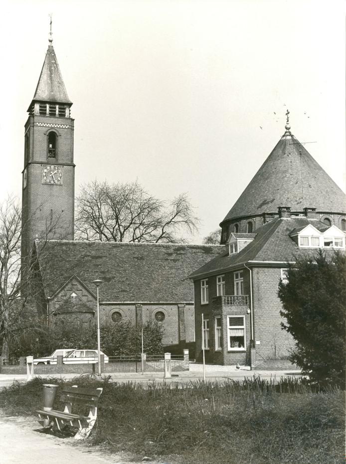 De Egbertuskerk aan het begin van de jaren tachtig van de vorige eeuw.