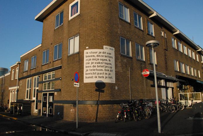 Het gedicht van Ingmar Heytze in de Utrechtse Dichterswijk.