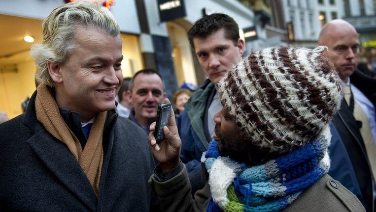 Geert Wilders kreeg de award voor best gevoerde campagne. Beeld null