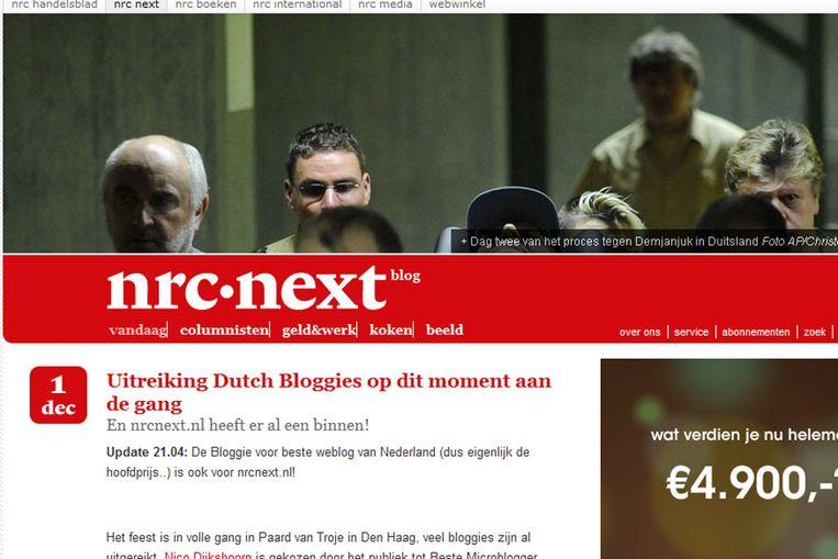 De website van NRC Next (NRC Next) Beeld