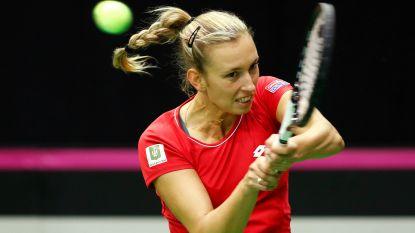 Elise Mertens bereikt kwartfinales in Doha: tweelingzus die last minute opdraafde maakt het Limburgse knap lastig