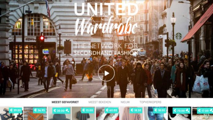 Een screenshot van de website United Wardrobe