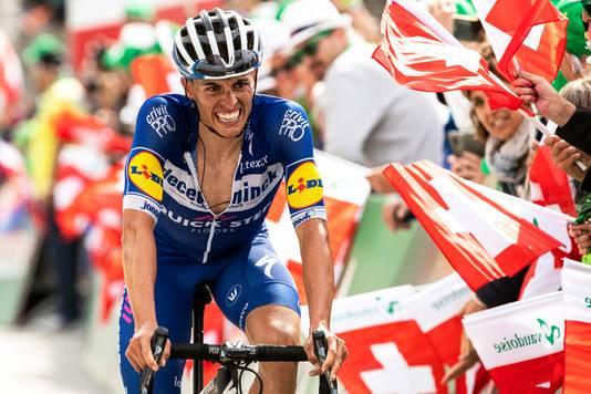 Enric Mas, laatst nog negende in de Ronde van Zwitserland.