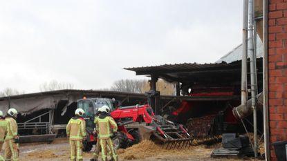 Stevige brand in landbouwbedrijf