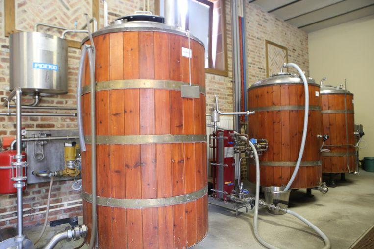 De kleine brouwzaal waarin de Loterbol brouwerij begon.