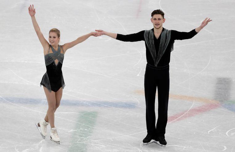 Ekaterina Alexandrovskaya en Harley Windsor uit Australië Beeld AP