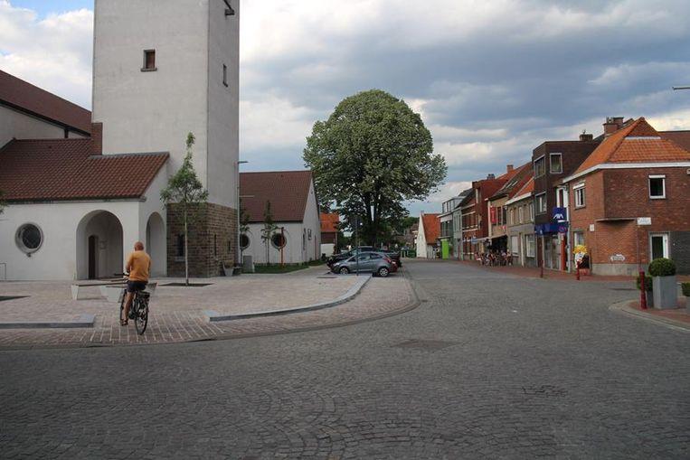 Het centrum van Landegem.