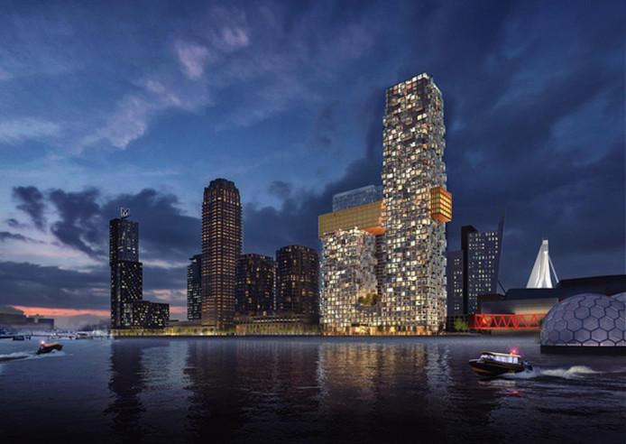 De Rotterdamse skyline krijgt met Sax een nieuwe blikvanger.