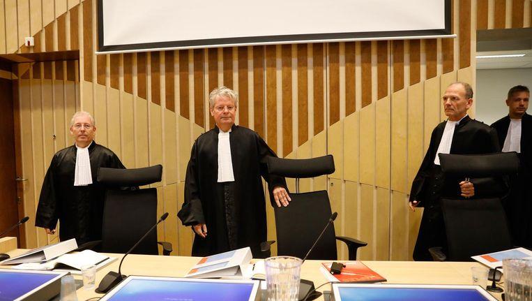 De raadsheren voor aanvang van het requisitoir in november 2016. Beeld anp