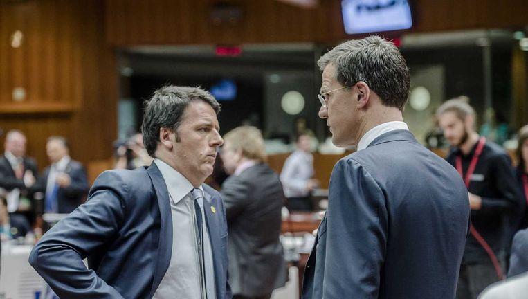De Italiaanse premier Matteo Renzi in gesprek met premier Rutte (archiefbeeld). Beeld anp
