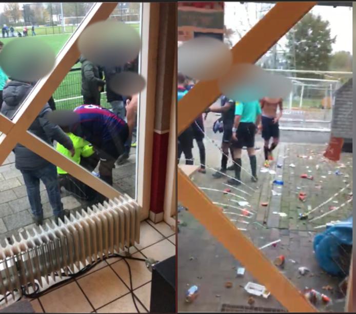 Een screenshot van de video van de vechtpartij.