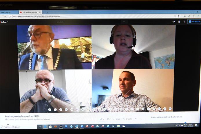 Raadsvergadering Boxmeer online.