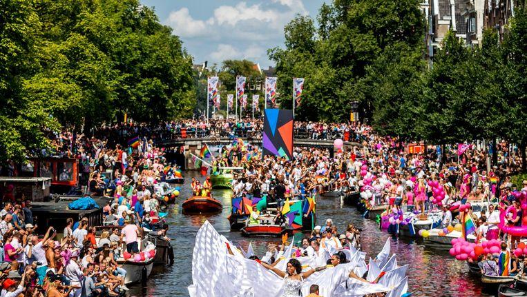 Bedrijven horen bij de botenparade Beeld Remko de Waal/ANP