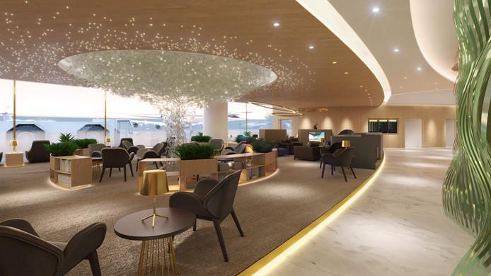 Het ontwerp voor de VIP lounge.