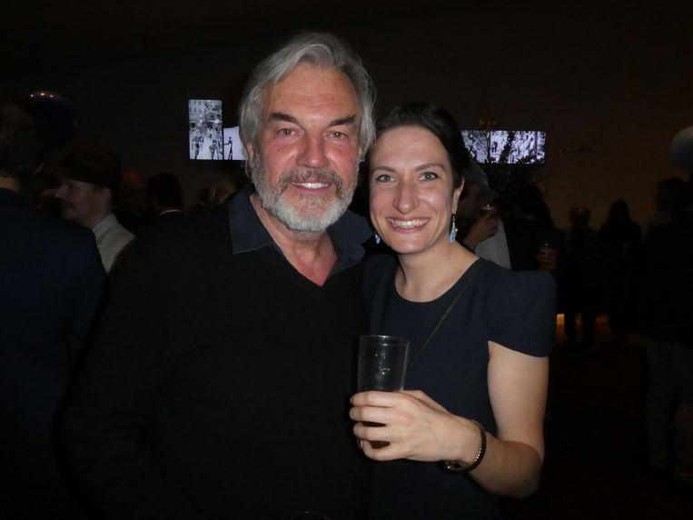 Derek de Lint, éminence grise van de Nederlandse cinema, en collega-actrice Marjolein van Panhuys. 'We hebben samen een korte film gemaakt' Beeld Schuim