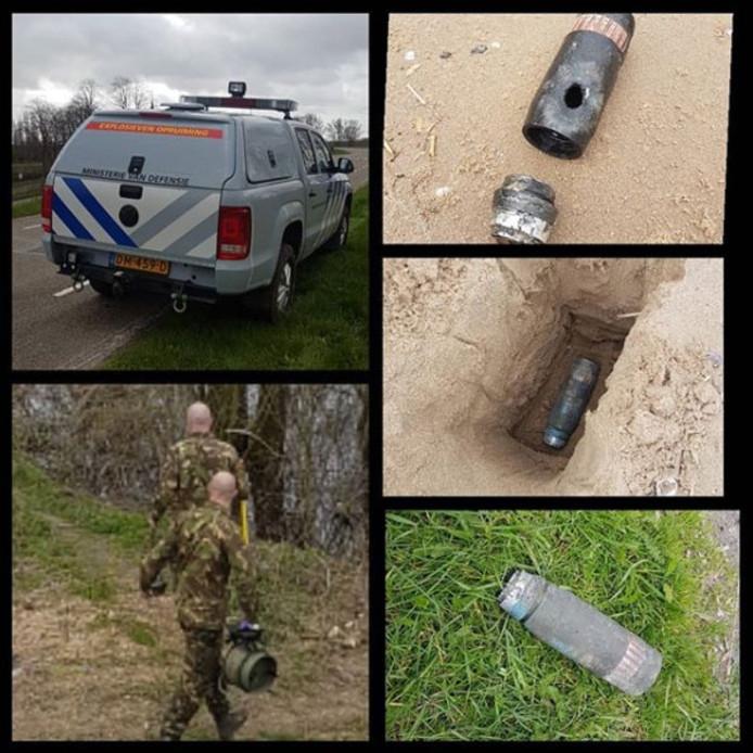 Magneetvisser vindt granaat en neemt explosief mee naar huis