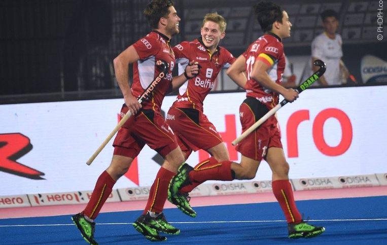 De Red Lions winnen tegen Spanje.
