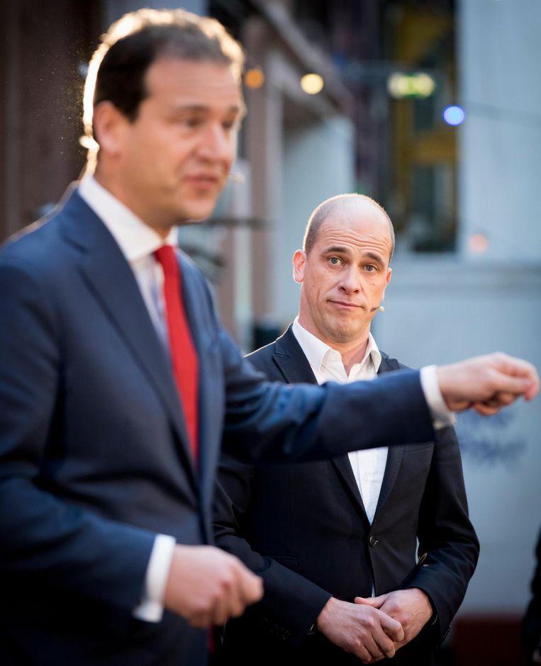 Asscher en Samsom tijdens hun laatste debat, afgelopen zaterdag in Amsterdam Roest Beeld ANP