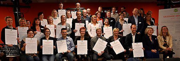 28 gemeentebesturen ondertekenden het charter Gezonde Gemeente in Herzele.