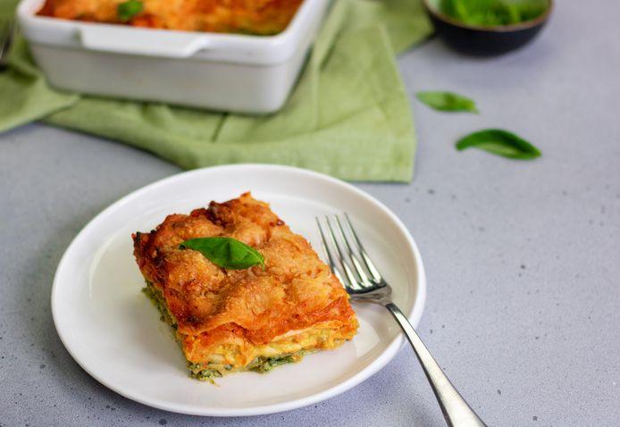 Vegetarische tricolore lasagne