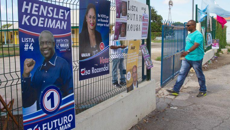 De partij van Hensley Koeiman mag de formatie leiden. Beeld ANP