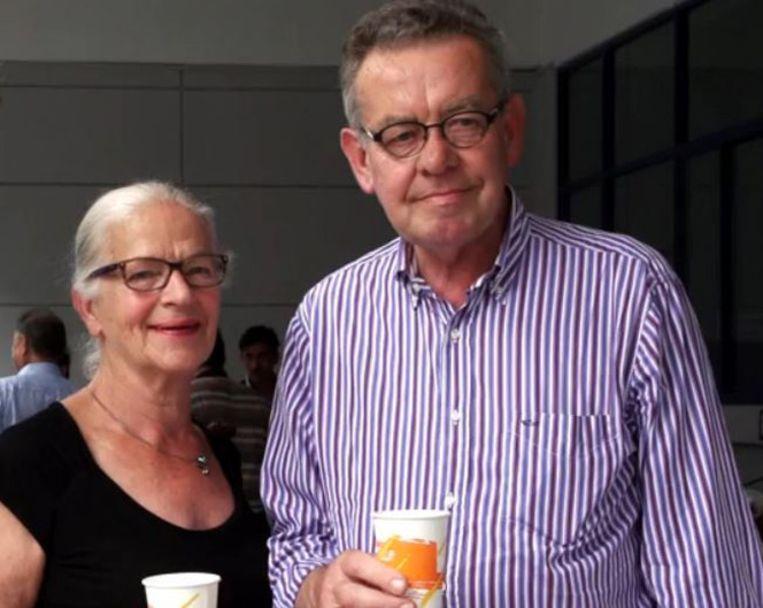 Toos en Guust Moor, op een foto die aan de Volkskrant is toegezonden door een familielid. Beeld -