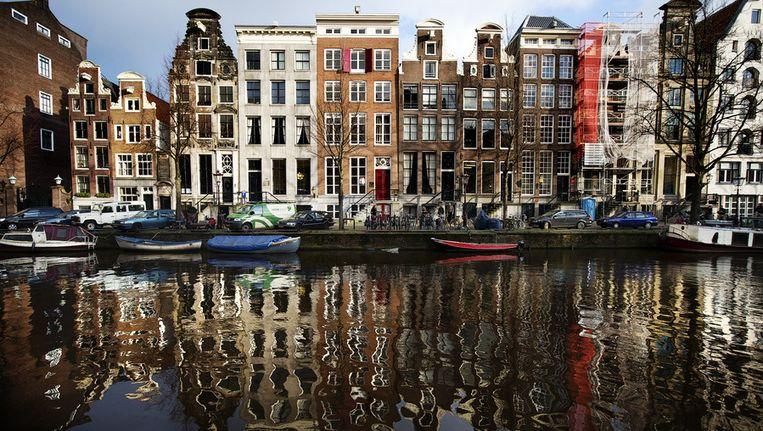 De Herengracht in Amsterdam. Beeld null