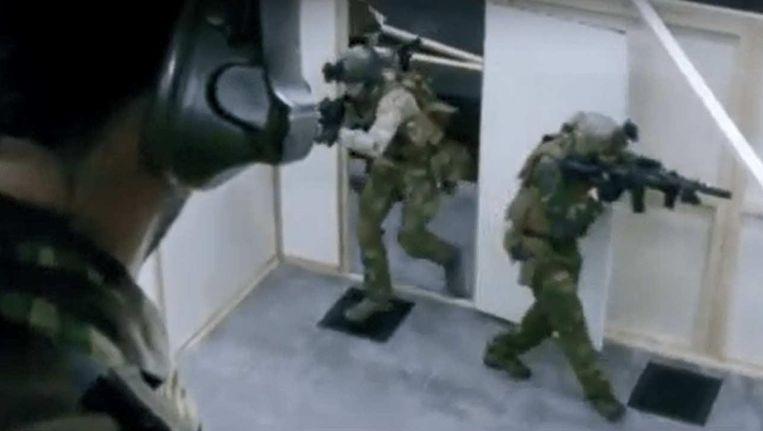 De schietbaan in Ossendrecht op beelden uit een promotiefilmpje van Defensie. Beeld