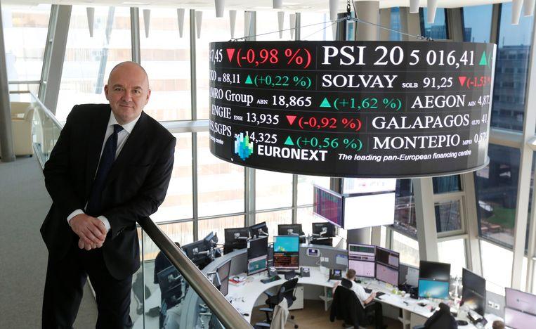 Euronext-topman Stephane Boujnah verdiende vorig jaar in totaal bijna 2 miljoen euro, waarvan 725 duizend euro basissalaris. Beeld Reuters