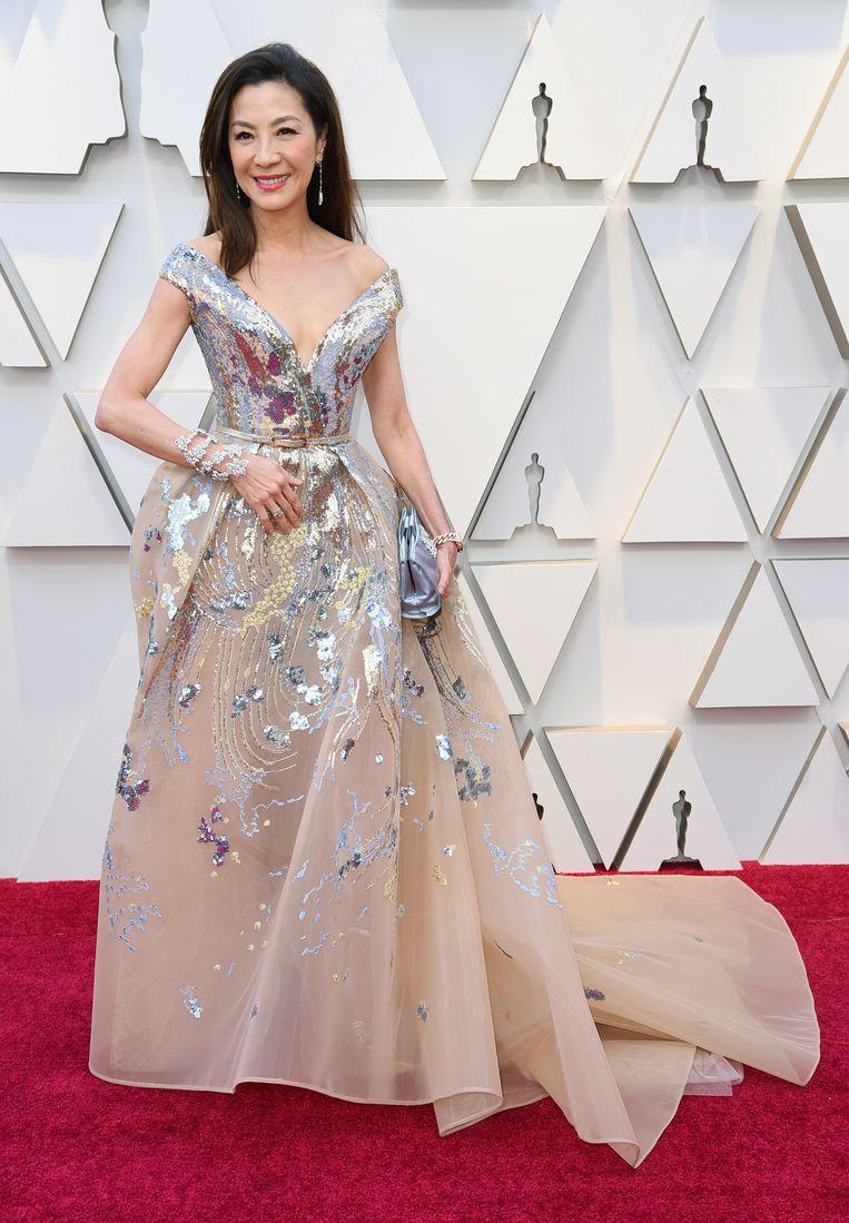 Actrice Michelle Yeoh in een prachtige jurk van Elie Saab.